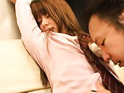 Risa Tsukino Asian is fondled all over school uniform by fellow