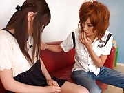 Kirara Asuka Asian has skirt up by curious and horny nymphet