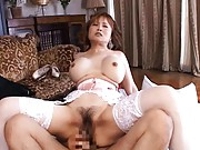 Japanese AV Model with immense titties and corset is screwed