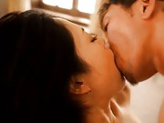 Sora Aoi Asian is kissed down to her pussy that is licked by dude