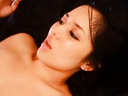 Sora Aoi Asian sucks finger while is fucked after sucking boner