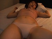 Rin Asian nymphet shows her generous boobs in see through blouse