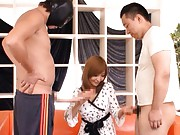 Riona Suzune Asian can compare normal phallus to extremely long