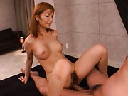 Riona Suzune Asian with big chest is nailed in slit by huge dong