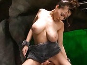 Ruri Saijo Asian is the cave busty woman that gets huge frigging