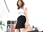 Ria Mamu Asian is touched under black skirt over black scanty