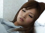 Rina Kato Asian reveals one juicy melon while she is sleeping