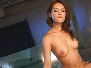 Maria Ozawa Asian all naked eats sperm from a spoon given by dude