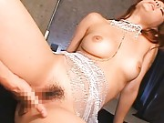 Maria Ozawa Asian with round cans is fingered and sucks phallus