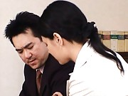 Maria Ozawa Asian turns men on with sexy look at business meeting