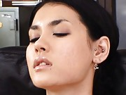 Maria Ozawa Asian with tied hands gets mouth explored by fingers