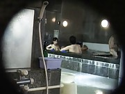 Japanese AV Model is watched sharing bath all nude with fellow