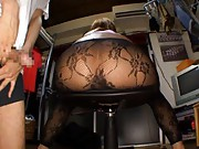Rino Katagiri Asian gets cum on her ass in stockings from guys