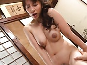Mirei Kayama Asian has huge cans fondled and sucks dick in 69