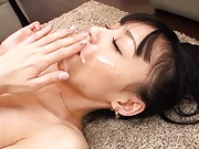 Aino Kishi Asian s drilled and gets sperm on face right from dong