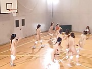 Amateur girls play basketball nude and like to feel the breeze