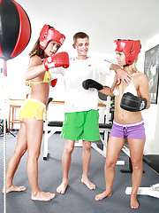 Little Caprice has unforgettable boxing workout