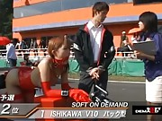 Maria Ozawa at race day in sexy red riding hard on dildo