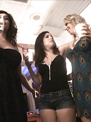 Watch these 3 hot big tits college babes get banged and cumfaced in these college dorm parties