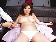 Rio Hamasaki is very horny and touches all over her body