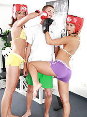 Want a crazy boxing workout with Little Caprice?
