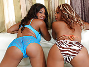Ghetto sluts with bubble butts getting punished with cock