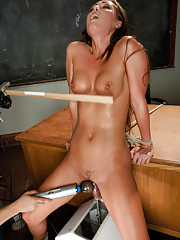 Her pussy reloads & squirts over & over from the sex machines. Melissa has her tits robo-smacked, her clit vibed and her pussy pounded all in bondage.