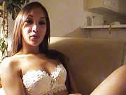 """Chatting with sexy Asian slut  Katsuni in the living room"""