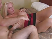 Blonde big titty MILF gets banged with big tits flopping