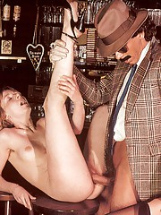 Seventies mobster and two ladies going wild