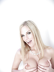 busty Aimee Addison sucks and deep throats cock and swallows...