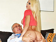 Horny old fellow pays a hot chick for hot sex