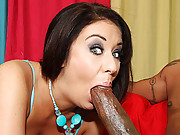Dirty MILF Isis gets her pussy crushed by a massive black cock!