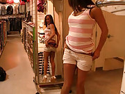 Haley gets naked in the shopping mall