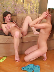Sweet teen Caprice fucking her blond 18yo girlfriend