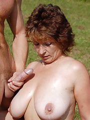 42 year old Misti takes a younger cock deep outdoors at the park