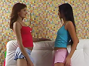 Handsome lesbians love massaging each other