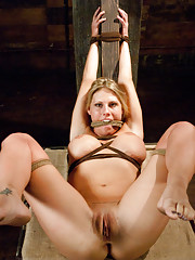 Brutal throat fucking and rough sex with hard bondage!