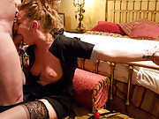 Helplessly bound and fucked maid by sadistic couple!
