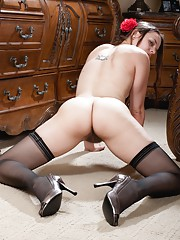 Hairy girl Jackie Paige has been a bad girl