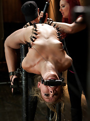 Chastity is pushed to the max LIVE in an incredible back arch on cold hard pipe, upping the ante, Claire adds a zipper predicament with Audrey!
