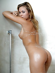 Veronika Fasterova takes a hot shower