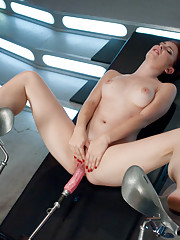 Local amateur babe shows the world her pussy and her mojo as she fucks machines for the first time, grinding her sexy body, cumming and even SQUIRTING