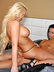 Hot lesbians fucked in these strip poker fuck pics