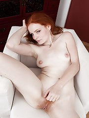 Ginger haired Florence is the hairy girl next door