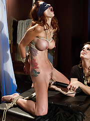 Famous porn starlet, Monique Alexander is fucked and whipped in lesbian bondage for the very first time!