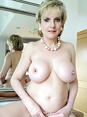 Naked mature at home