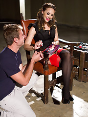 A fanboy gets dominated by Chanel Preston thinking he will earn the right to fuck her only to be cuckolded like a little bitch in the end!