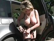 Masturbates outdoors
