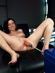 Double Penetration, huge machines, big cocks, lively sexy girl cumming - it